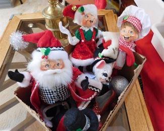 Vintage Annalee Christmas dolls