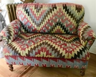 Beautiful Kilim covered Loveseat