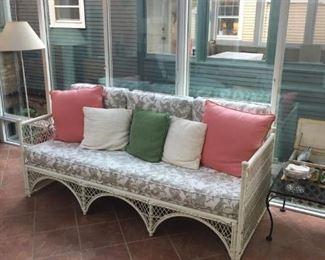 sunroom, wicker couch