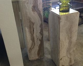 Another view of marble pedestals to see the gorgeous stone