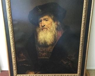 Very large print of very old man, feeling like I should know who this is,...