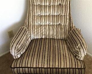 Striped velveteen chair