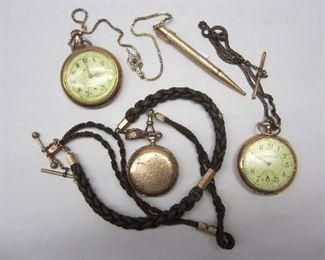 Pocket watches, fob chain
