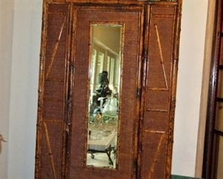 pitluk bamboo armoir with mirror