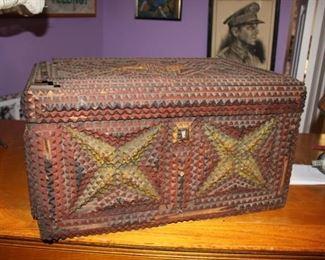 Tramp Art chest.