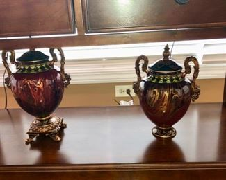 I love these urns.  check out the figural heads on the handles.