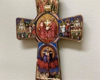 This beautiful painted cross is really only about 3-4 inches tall but look how stunning it is!