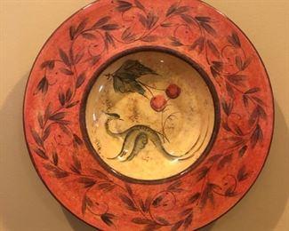 cool plate hangs on wall