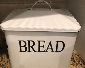 Enamelware bread box, made to look old