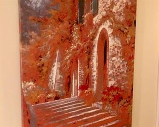 I love this piece - it could be a giclee on canvas or possibly original art - haven't had a chance to inspect it yet.