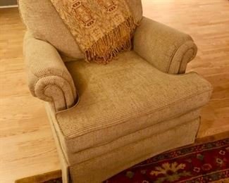 Upholstered chair = very comfy