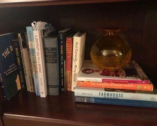art glass piece and more cookbooks