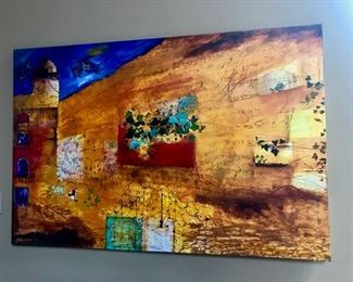 Here is her one huge painting - I love it!  Smadar Livne.