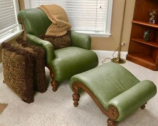 This is a true combination of form and function - Check out that ottoman!