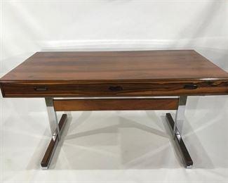 Maurice Villency Rosewood Chrome Desk, Stunning!