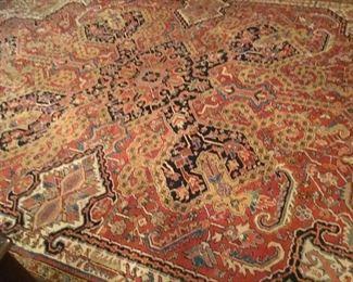 Large oriental rug.