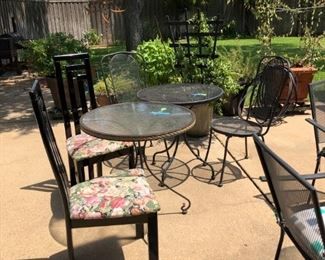 Two 3 piece Patio Sets