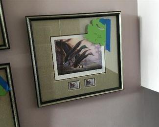 Duck stamp print framed