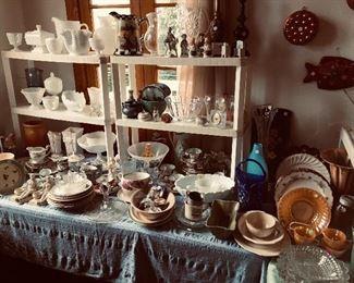 Lots of dish wares upstairs