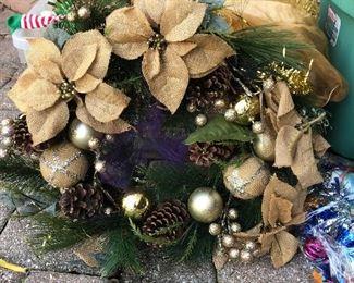 Bin of Christmas Decor and Cut Glass Serving Pieces https://ctbids.com/#!/description/share/214251