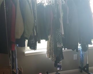 clothing ladies and mens, some kids