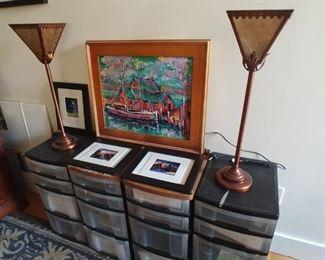 PAIR OF MICA LAMPS $60
