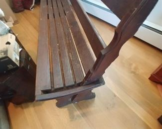 Antique Railroad bench only $250