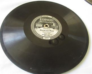 antique Thomas Edison records