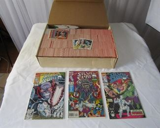 comic books and sports cards (basketball and baseball)