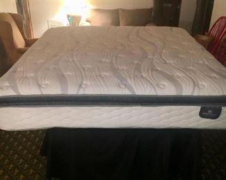 King  Serta Sleeper  mattress practically new