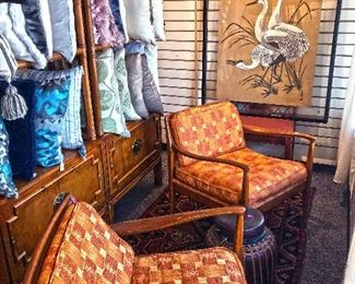 Scotts Valley pop up orange chairs and pillows
