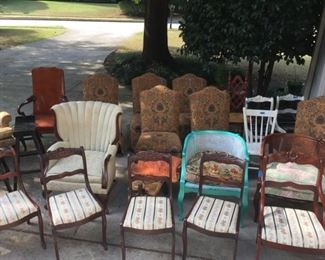 24+ Chairs of various ages and styles