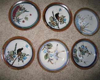 Mexican collectible bird plates
