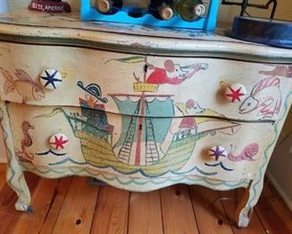 Adorable hand painted chest