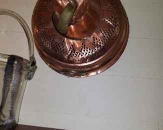 Antique copper sieve