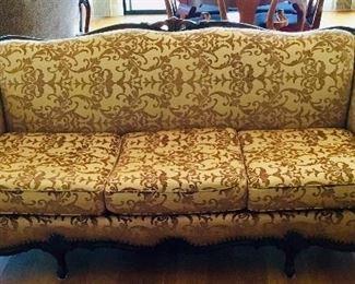 Custom Victorian Sofa with extra fabric