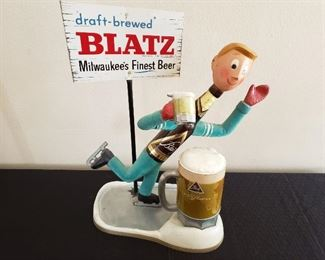 Vintage Cast Blatz Ice Skater Sign https://ctbids.com/#!/description/share/214909