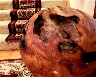 HUGE solid wooden ball sculpture