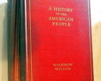 """A History Of The American People"", By Woodrow Wilson, Volumes 1-5, 1902, The McFarland Collection"