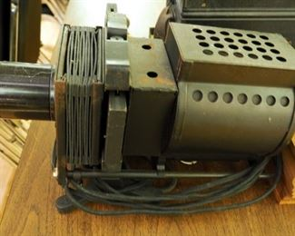 Keystone View Co. Vintage Electric Slide Projector Includes Metal Carrying Case And Slides Approx. 37 Slides