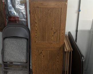 $40  Tall oak cabinet