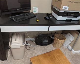 $75  Black/white IKEA desk