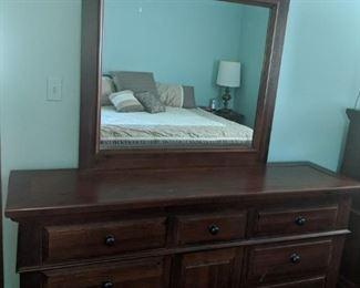 $150  Triple dresser with mirror