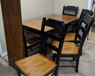 $100  Wood table with black trim
