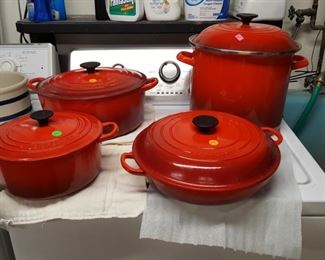 Le Creuset $50 to $75 each