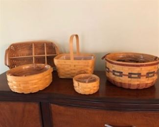 Longaberger baskets.....prestine condition.