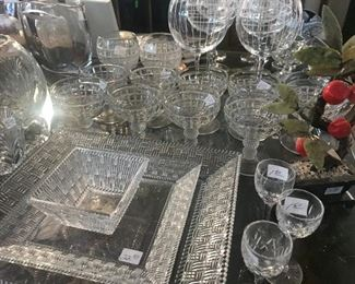 Tiffany Crystal Serving Platters