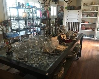 Glass Top Dining Table, Decoratives