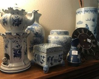 Blue and White Decoratives