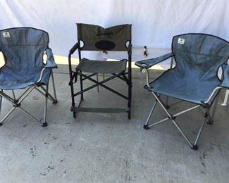 Three Folding Chairs